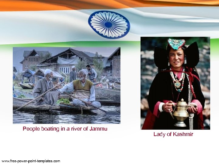 People boating in a river of Jammu Lady of Kashmir