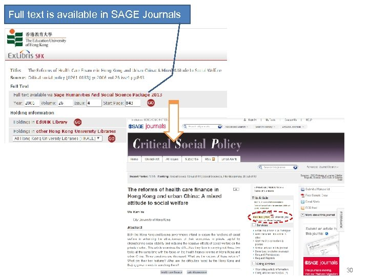Full text is available in SAGE Journals 30