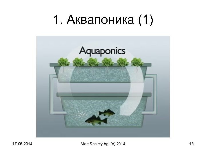 1. Аквапоника (1) 17. 05. 2014 Mars. Society. bg, (c) 2014 16