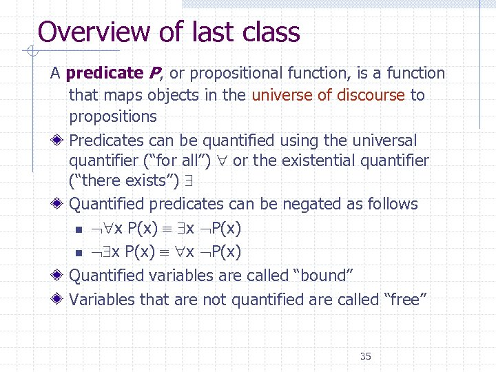 Propositional Function