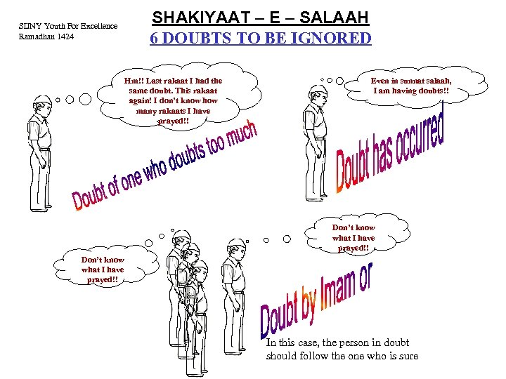 SHAKIYAAT – E – SALAAH 6 DOUBTS TO BE IGNORED SIJNY Youth For Excellence