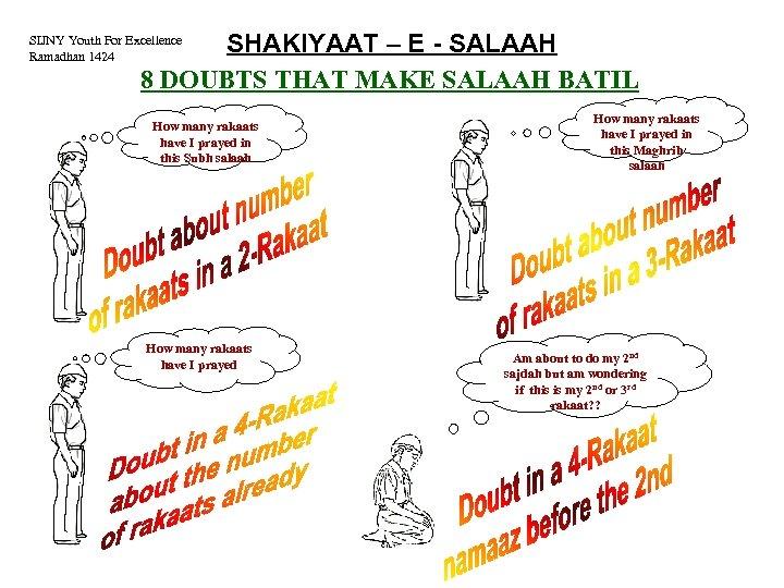 SHAKIYAAT – E - SALAAH 8 DOUBTS THAT MAKE SALAAH BATIL SIJNY Youth For