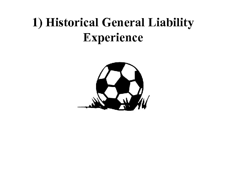 1) Historical General Liability Experience