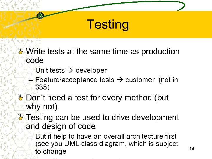 Testing Write tests at the same time as production code – Unit tests developer