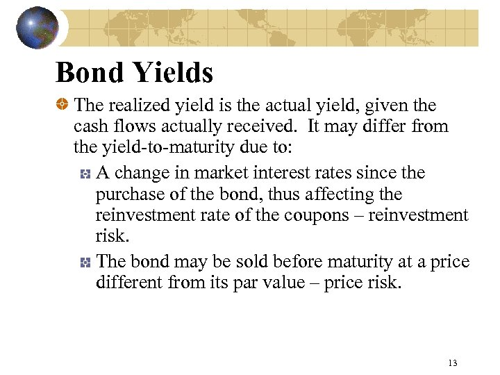 CHAPTER 5 BOND PRICES AND RISKS Time
