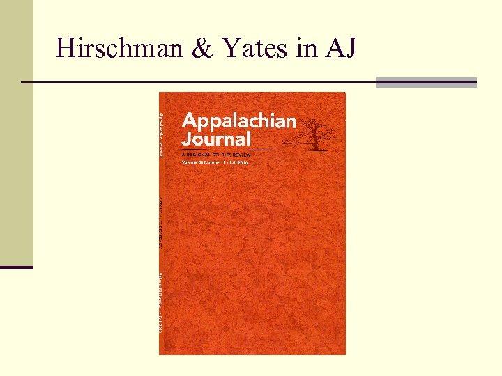 Hirschman & Yates in AJ