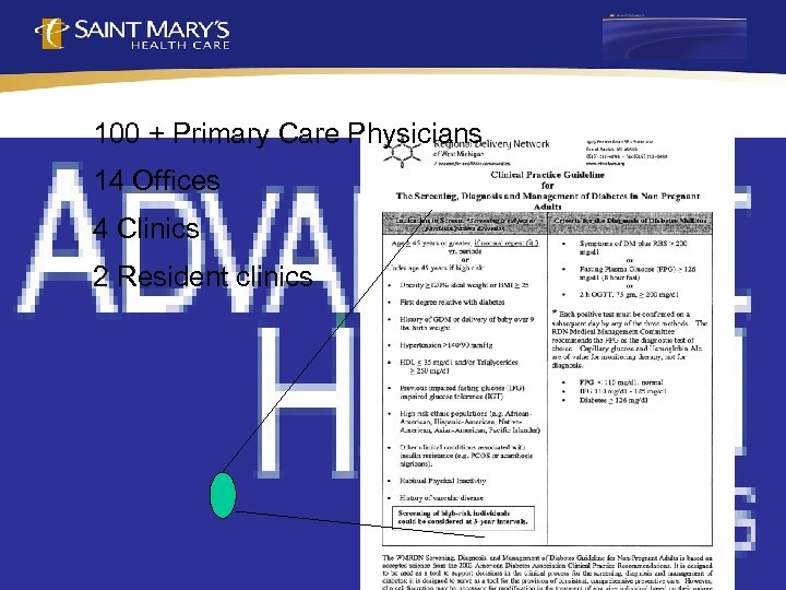 100 + Primary Care Physicians 14 Offices 4 Clinics 2 Resident clinics