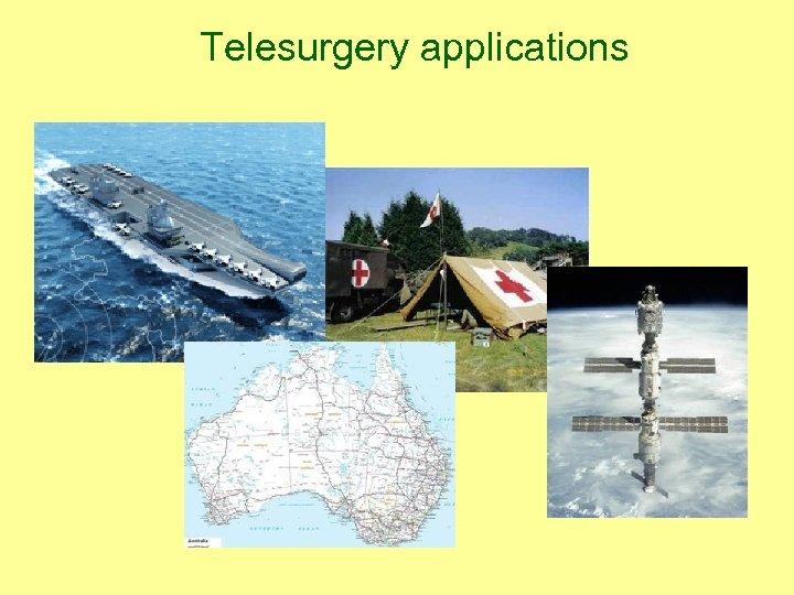 Telesurgery applications