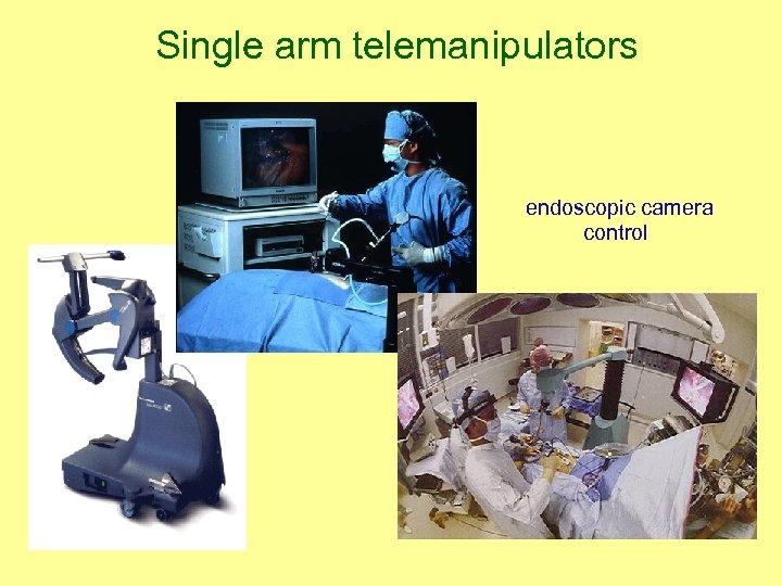 Single arm telemanipulators endoscopic camera control