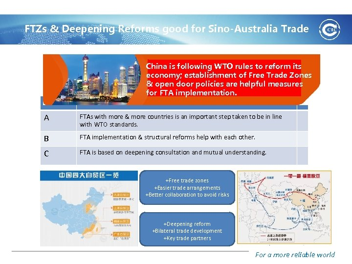 FTZs & Deepening Reforms good for Sino-Australia Trade China is following WTO rules to