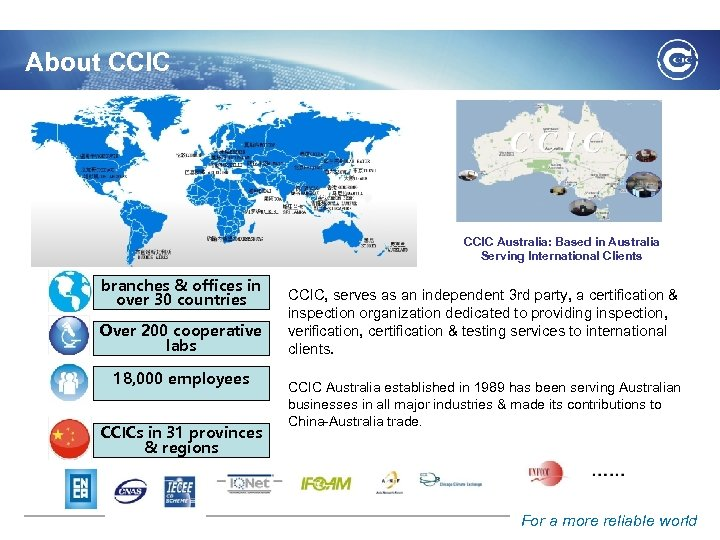 About CCIC Australia: Based in Australia Serving International Clients branches & offices in over
