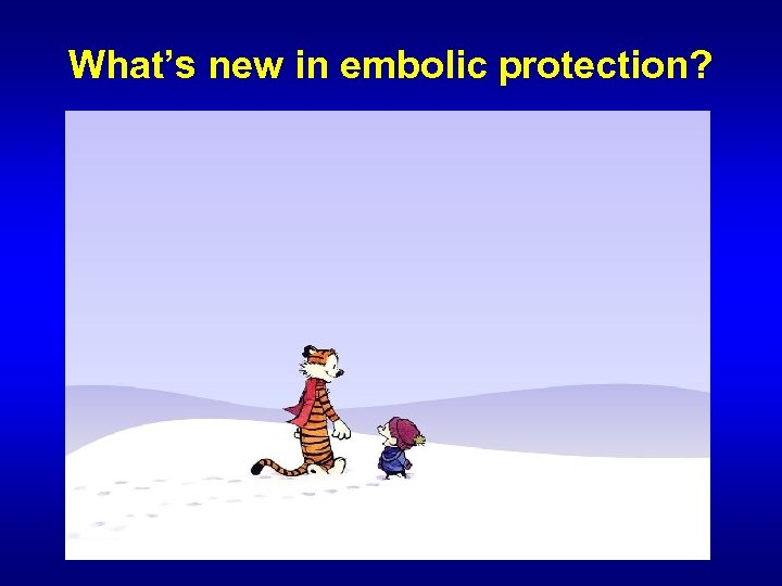 What's new in embolic protection?