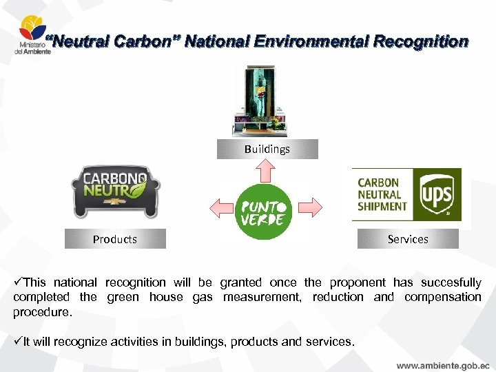 """Neutral Carbon"" National Environmental Recognition Buildings Products Services Carbono Neutro üThis national recognition will"