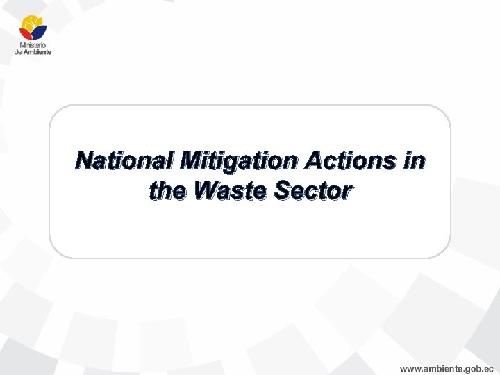 National Mitigation Actions in the Waste Sector