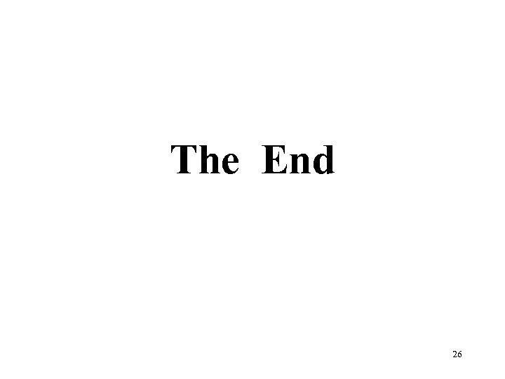 The End 26
