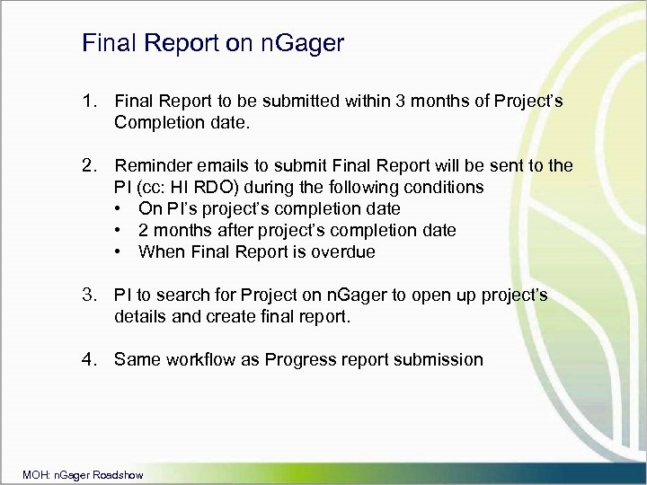 final report on fsib essay Go through your review with the report's author and then get feedback on your own report from your reviewer write an action plan to update your project profile document final year project review tutorials progress report 1.