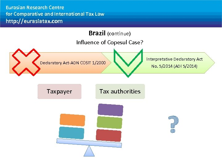 Eurasian Research Centre for Comparative and International Tax Law http: //eurasiatax. com Brazil (continue)