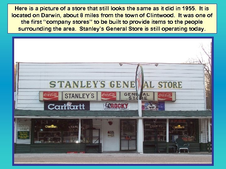 Here is a picture of a store that still looks the same as it