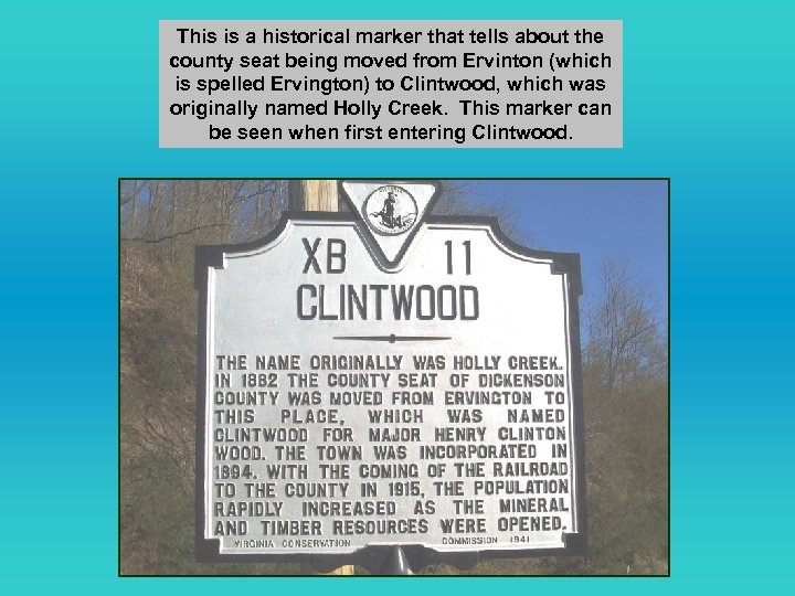 This is a historical marker that tells about the county seat being moved from