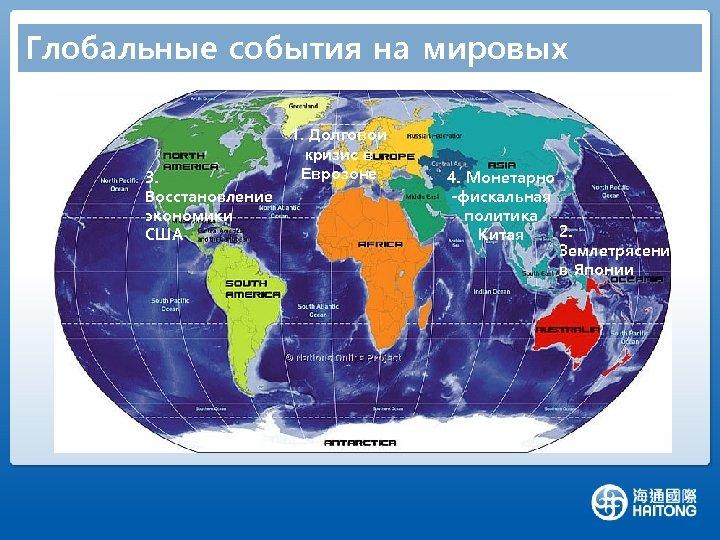 Глобальные события на мировых рынках 3. Восстановление экономики США 1. Долговой кризис в Еврозоне