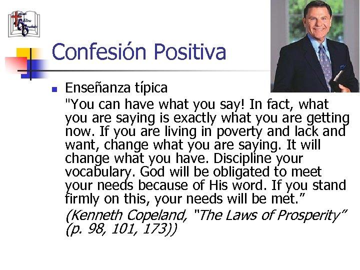 Confesión Positiva n Enseñanza típica
