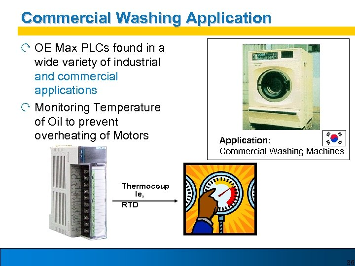 Commercial Washing Application OE Max PLCs found in a wide variety of industrial and