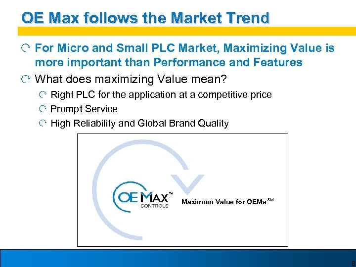 OE Max follows the Market Trend For Micro and Small PLC Market, Maximizing Value