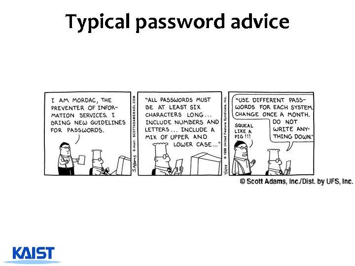 Typical password advice