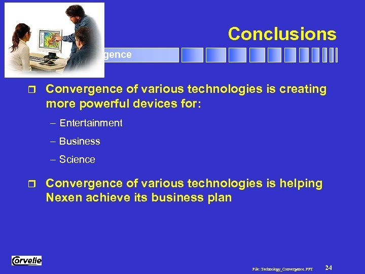 Conclusions Technology Convergence r Convergence of various technologies is creating more powerful devices for: