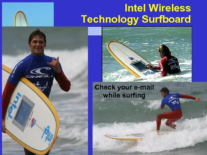 Intel Wireless Technology Surfboard Technology Convergence Check your e-mail while surfing File: Technology_Convergence. .