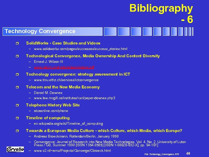 Bibliography -6 Technology Convergence r Solid. Works - Case Studies and Videos – www.