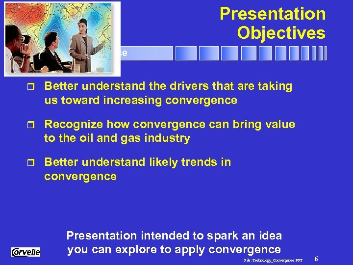 Presentation Objectives Technology Convergence r Better understand the drivers that are taking us toward