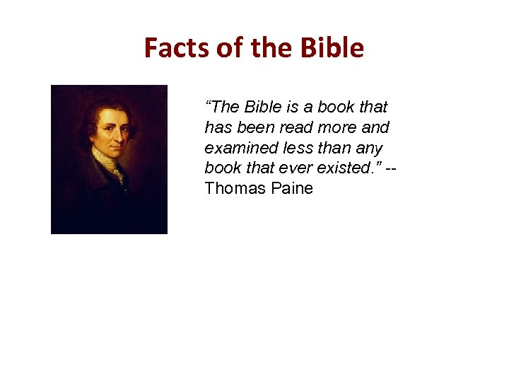 "Facts of the Bible ""The Bible is a book that has been read more"