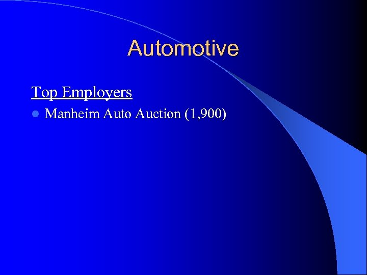 Automotive Top Employers l Manheim Auto Auction (1, 900)