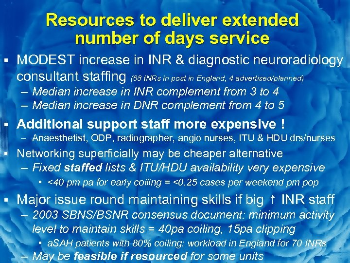 Slide 12 Resources to deliver extended number of days service § MODEST increase in