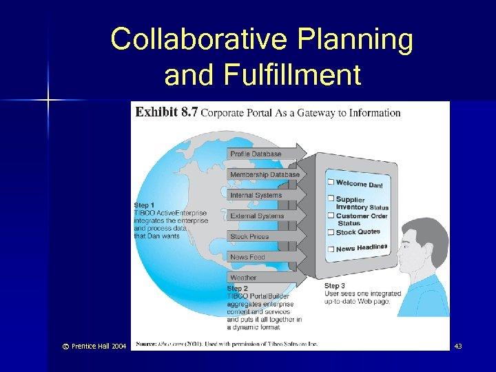 Collaborative Planning and Fulfillment © Prentice Hall 2004 43