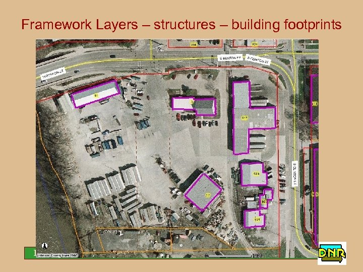 Framework Layers – structures – building footprints Iowa Geological Survey