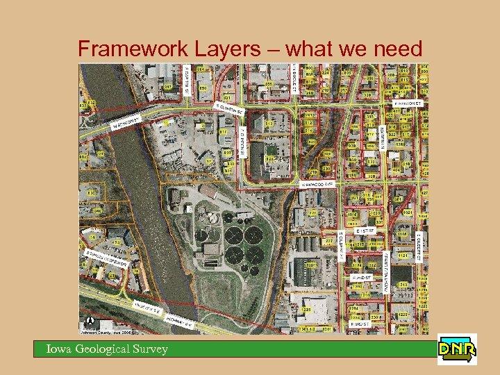 Framework Layers – what we need Iowa Geological Survey