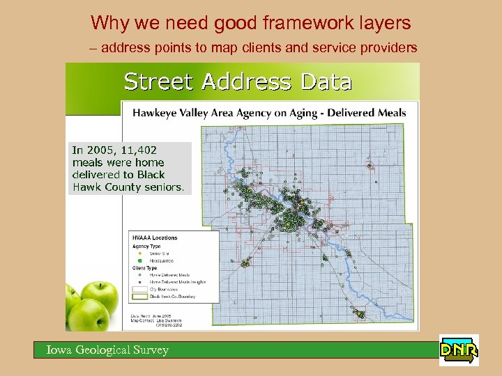 Why we need good framework layers – address points to map clients and service