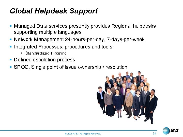 Global Helpdesk Support § Managed Data services presently provides Regional helpdesks supporting multiple languages