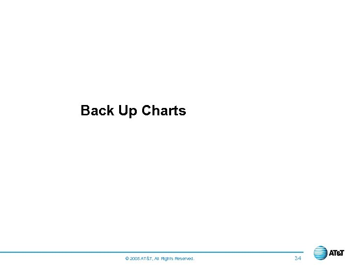 Back Up Charts © 2005 AT&T, All Rights Reserved. 34