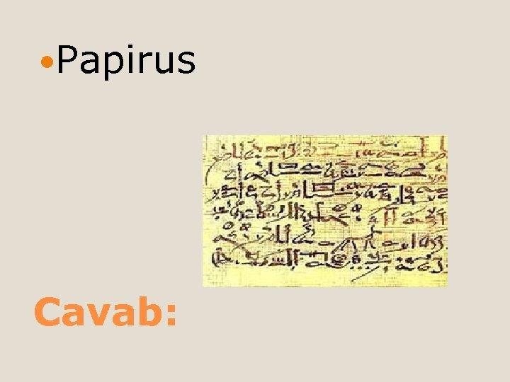 Papirus Cavab: