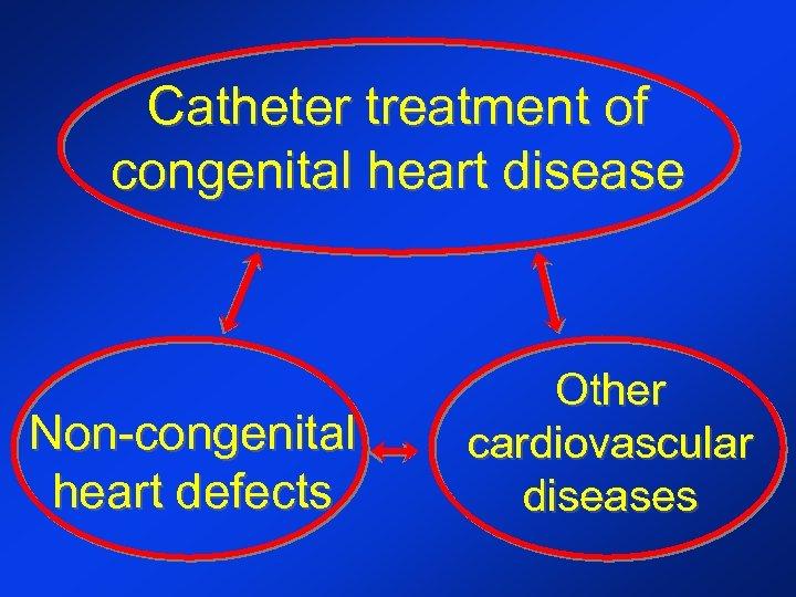 Catheter treatment of congenital heart disease Non-congenital heart defects Other cardiovascular diseases