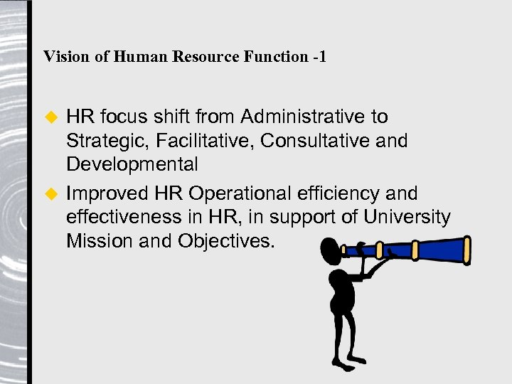 Vision of Human Resource Function -1 HR focus shift from Administrative to Strategic, Facilitative,