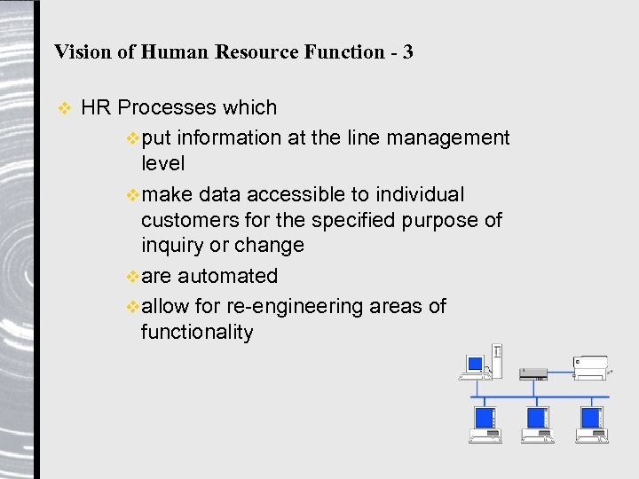 Vision of Human Resource Function - 3 v HR Processes which vput information at