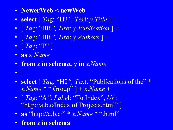 "• • • Newer. Web < new. Web select [ Tag: ""H 3"","