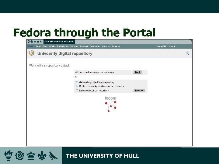 Fedora through the Portal