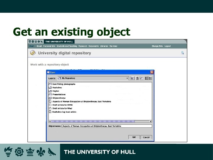 Get an existing object