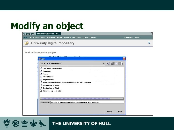Modify an object
