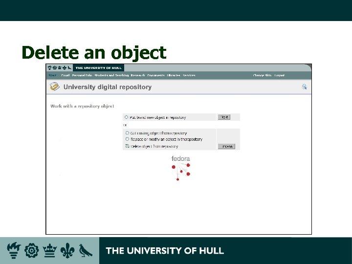 Delete an object